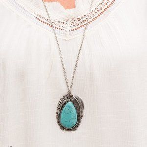 Tropical Mirage Blue Necklace